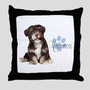 Havanese Puppy Throw Pillow
