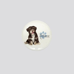 Havanese Puppy Mini Button