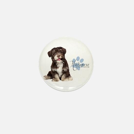 Havanese Puppy Mini Button