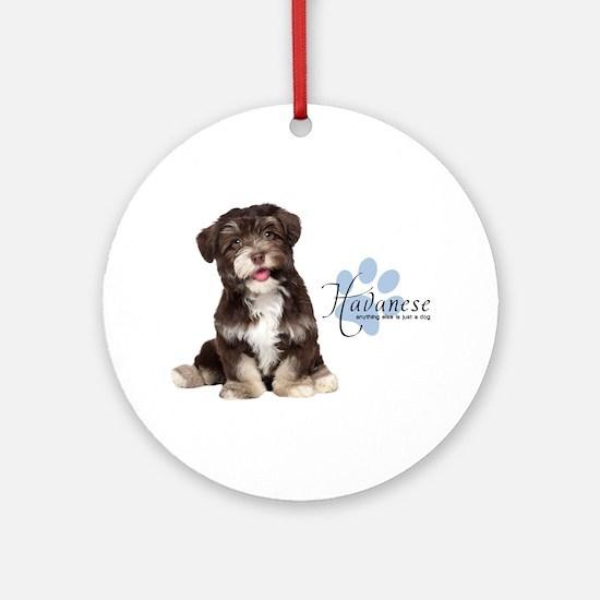 Havanese Puppy Ornament (Round)