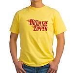 Hot in the Zipper Yellow T-Shirt