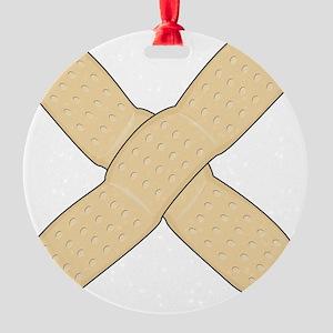 Big Bandage Round Ornament