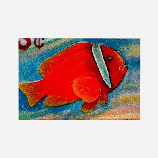 Ryukyu Islands 1966 Clownfish Pos Rectangle Magnet