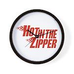 Hot in the Zipper Wall Clock