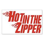 Hot in the Zipper Rectangle Sticker