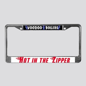 Hot in the Zipper License Plate Frame