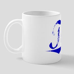 Tash, Blue, Aged Mug
