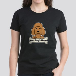 Personalized Poodle Women's Dark T-Shirt