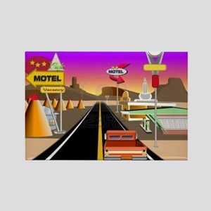 Get your kicks on Route 66 Rectangle Magnet