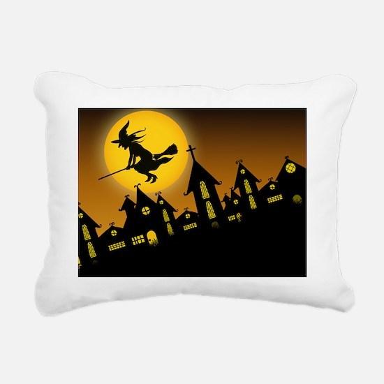 Spooky Halloween 2 iPad  Rectangular Canvas Pillow