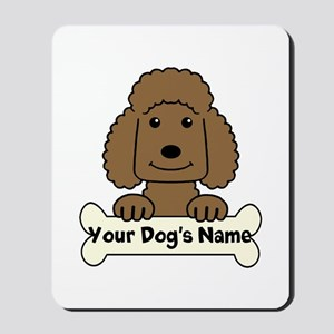 Personalized Poodle Mousepad