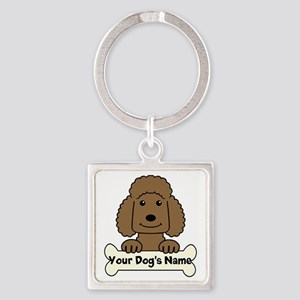 Personalized Poodle Square Keychain