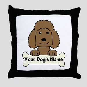 Personalized Poodle Throw Pillow