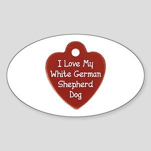 Love My Shepherd Oval Sticker