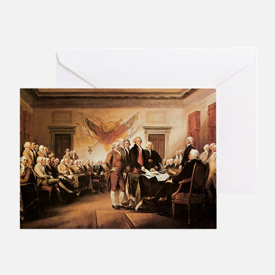 John Trumbull The Declaration of Ind Greeting Card