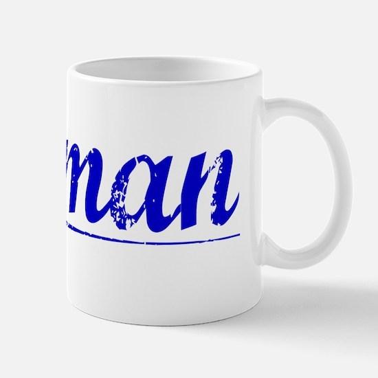 Truman, Blue, Aged Mug