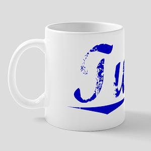 Tubbs, Blue, Aged Mug