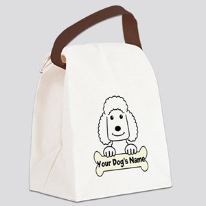 Personalized Poodle Canvas Lunch Bag