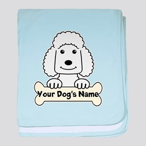 Personalized Poodle baby blanket