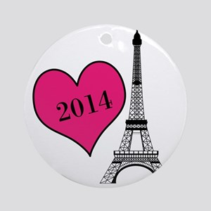 EIffel Tower Personalizable Ornament (Round)
