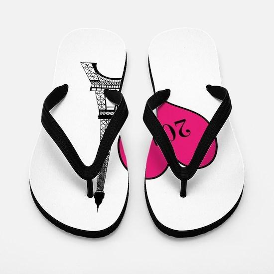 EIffel Tower Personalizable Flip Flops