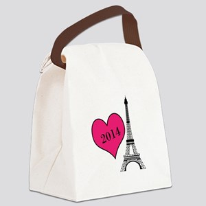 EIffel Tower Personalizable Canvas Lunch Bag