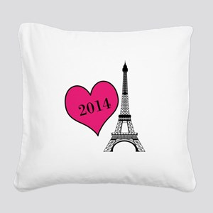EIffel Tower Personalizable Square Canvas Pillow
