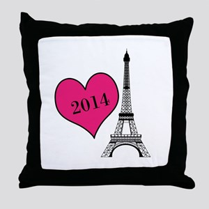 EIffel Tower Personalizable Throw Pillow