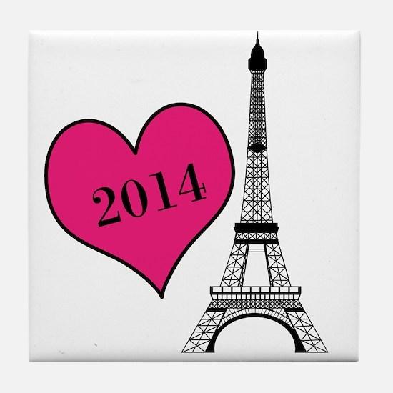 EIffel Tower Personalizable Tile Coaster