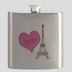 EIffel Tower Personalizable Flask