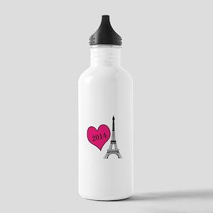 EIffel Tower Personalizable Water Bottle
