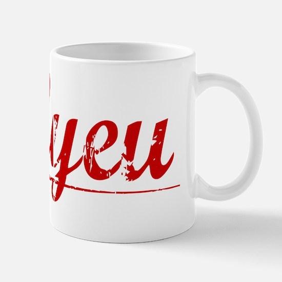 Bilyeu, Vintage Red Mug