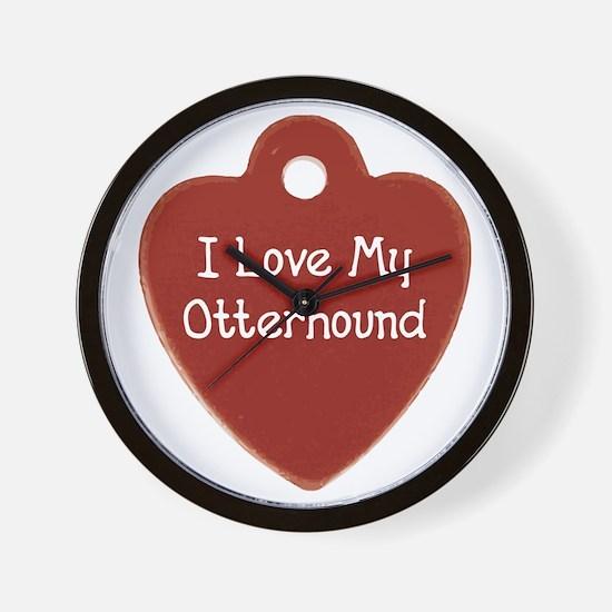 Love My Otterhound Wall Clock