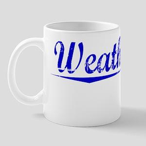 Weatherford, Blue, Aged Mug