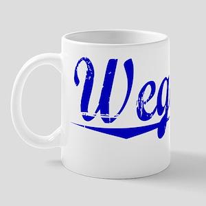 Wegman, Blue, Aged Mug
