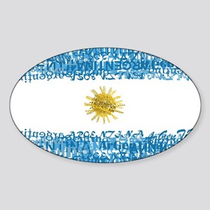 Textual Argentina Oval Sticker