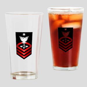 Navy Senior Chief Aviation Maintenance Drinking Gl