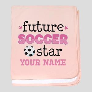 Future Soccer Star Girls baby blanket