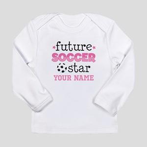 Future Soccer Star Girls Long Sleeve T-Shirt