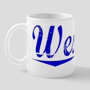 Wesson, Blue, Aged Mug