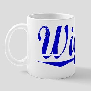 Wiggin, Blue, Aged Mug
