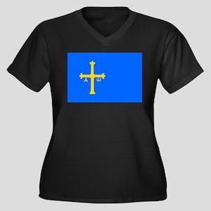 Bandera de Asturias - Flag of As Plus Size T-Shirt