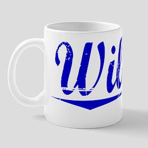 Wilmot, Blue, Aged Mug