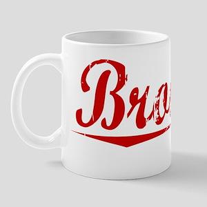 Brookes, Vintage Red Mug
