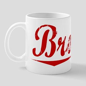 Brooks, Vintage Red Mug