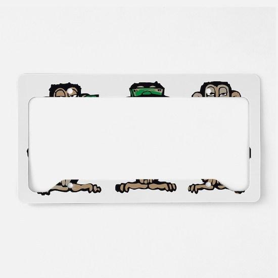 Three monkeys License Plate Holder