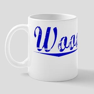 Woodbury, Blue, Aged Mug