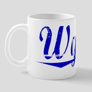 Wynne, Blue, Aged Mug