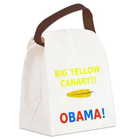 Big Yellow Canary Canvas Lunch Bag