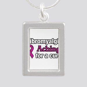 Fibromyalgia Aching For A Cure Awareness Necklaces